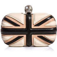 Alexander McQueen Leather Union Jack box clutch ($1,695) ❤ liked on Polyvore