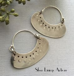 A personal favorite from my Etsy shop https://www.etsy.com/listing/269284878/artisan-earrings-sterling-silver-tribal