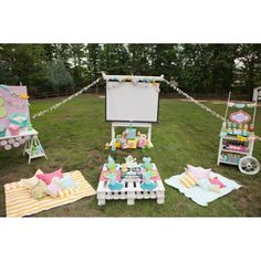 Outdoor Movie Night Jelly Belly Birthday Party Teen Tween Printable Collection