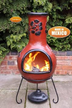Rosas - X-Large Mexican Chiminea in Red & Black £169.99