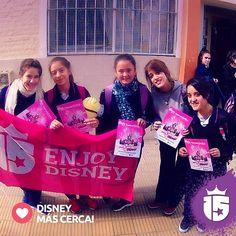 Visitamos el colegio Nuestra señora de Fátima en Córdoba!! Y nos acercamos más a #Disney! #Enjoy15