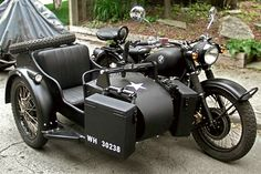 I tried to tip/pick up the sidecar – couldn't get it off the ground, ...