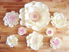 Set of 8 Flowers - Paper Flowers | Paper Flowers for Nursery | Paper Flower Backdrop | Paper Flower | Paper Flower Wall | Paper Flower Art