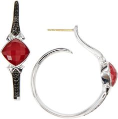 Stephen Webster Superstud Sapphire Pave Hoop Earrings, Red on shopstyle.com