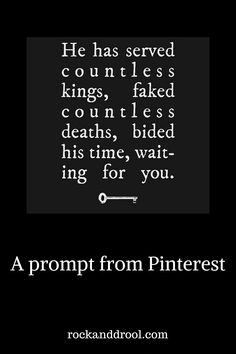 Prompts From Facebook Friends Plus Pinterest Equals a Story-ish | ROCK AND DROOL