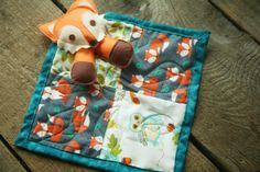 Quilted Fox Lovey by FeralMountain on Etsy