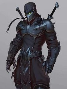 ninja warrior with knight mix point of view Warrior Concept Art, Armor Concept, Fantasy Character Design, Character Inspiration, Character Art, Character Concept, Fantasy Armor, Dark Fantasy Art, Ninja Kunst