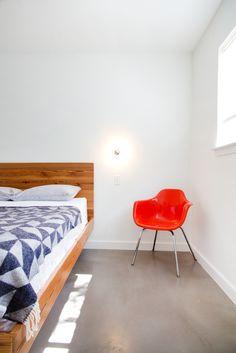 Mid-century minimalist bedroom