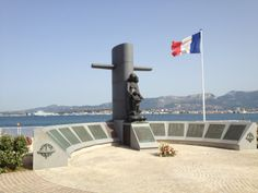Toulon, France - Submariners' Memorial next to La Tour Royale.