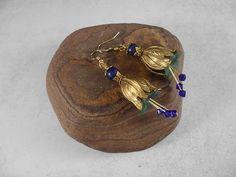 verkauft - Elfenohrhänger Blütenohrhänger Lapislazuli - ein Designerstück von…