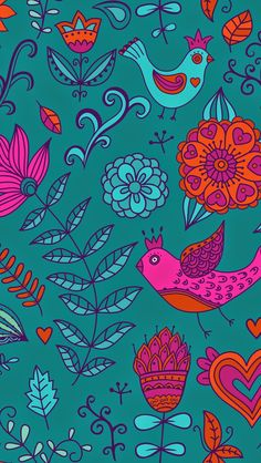 Here's another lockscreen wallpaper for you featuring a retro-style bird and flower pattern. To install it, first access this post dir...