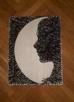 Beautiful handmade  string art decoration picture