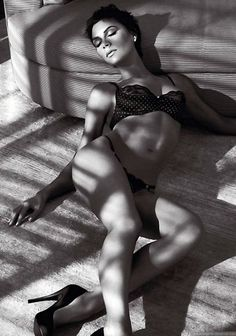 Victoria Beckham en ropa interior