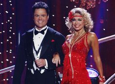 Kym Johnson & Donny Osmond arrive onstage for the Charleston.