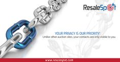 YOUR PRIVACY IS OUR PRIORITY!  Unlike other auction sites, your contacts are only visible to you.