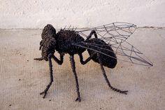 Scultura insetto di Deev Vanorbeek