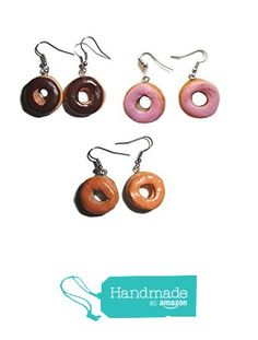 Round Doughnut Earrings Choice of Flavor Chocolate Strawberry Maple from Fake Food USA http://www.amazon.com/dp/B01G7W70RA/ref=hnd_sw_r_pi_dp_kRlsxb07TP0MB #handmadeatamazon
