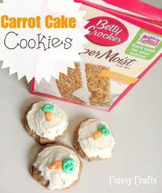 Kitchen Crafts - Carrot Cake Cookies - Cutesy Crafts
