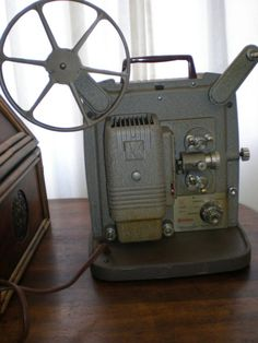 8mm film projector I never wanted to be the one to have to turn it on or off. So much pressure!