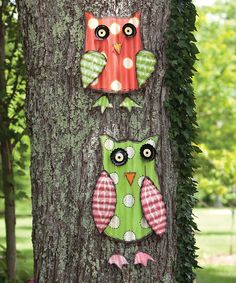 Take a look at this Bright Companion Owl Wall Art Set on zulily today!