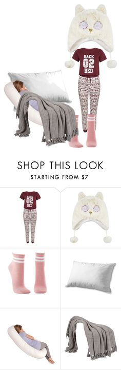 """""""Nope. I thought it was Thursday, not Wednesday, so I'm going back to bed."""" by feralkind ❤ liked on Polyvore featuring Monsoon, Charlotte Russe and Leachco"""