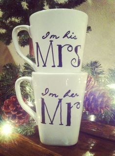 Matching Mr and Mrs Mugs