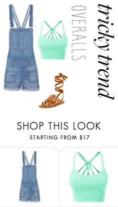 """Untitled #55"" by mackers801 ❤ liked on Polyvore featuring Madewell, LE3NO, Gianvito Rossi, TrickyTrend and overalls"