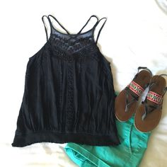 Free People beaded tank This is a beautifully beaded double spaghetti strap. Not faded at all, no beads missing, no snags, tears, holes. EUC! Worn one time. Free People Tops Tank Tops