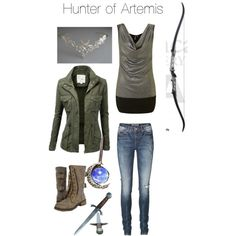 Half blood Hunter of Artemis - my 'Percy Jackson' identity is demigod: daughter of Apollo and Fav Niece of Artemis. Percy Jackson Outfits, Percy Jackson Fandom, Artemis Percy Jackson, Hunter Of Artemis, Fandom Fashion, Nerd Fashion, Punk Fashion, Lolita Fashion, Fashion Boots
