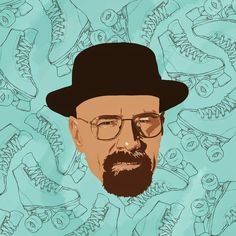 If Walter White is the Danger, then Hal Wilkerson is the Skater. Breaking Bad Art, Walter White, Diaries, Hats, Illustration, Hat, Journals, Illustrations, Writers Notebook