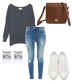 """""""Untitled #6"""" by klhaudita-leto on Polyvore featuring Friendly Hunting, Ted Baker, Yves Saint Laurent and Coach"""