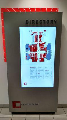 Directory at L'Enfant Plaza, Washington DC #wayfinding #kiosk