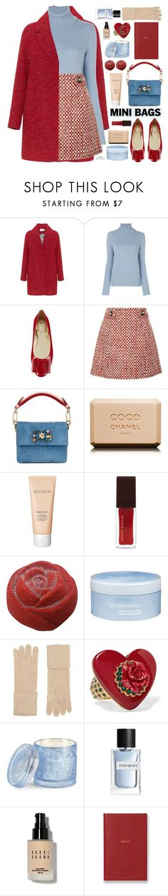 """""""Mini Bags"""" by mylkbar ❤ liked on Polyvore featuring Loro Piana, Roger Vivier, Prada, Dolce&Gabbana, Chanel, Laura Mercier, Aveda, William Sharp, D.L. & Co. and Yves Saint Laurent"""