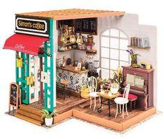 Coffee Shop /Dollhouse Kit/ 3D Model   Etsy Dollhouse Toys, Wooden Dollhouse, Wooden Dolls, Dollhouse Miniatures, Tiny Furniture, Miniature Furniture, House Furniture, Miniature Rooms, Diy Holz