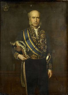 Portret van Johan Wilhelm van Lansberge (1830-1906). Gouverneur-generaal (1875-1880). Onderdeel van een reeks van portretten van de gouverneurs-generaal van het voormalige Nederlands Oost-Indië. 1887