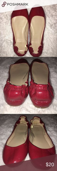 Red Leather Flats size 6 Cute red leather flats that add a pop of color to any outfit! Professional yet fun. Size 6. Great condition! Mossimo Supply Co. Shoes Flats & Loafers