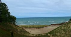 Indiana Places and History: Indiana Photo of the Day - Lake Michigan Through the Dunes