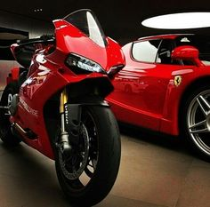 Red ducati and ferrari Ducati Motorcycles, Cars And Motorcycles, Yamaha, Cbr, Lamborghini Huracan, Ferrari, Luxury Car Logos, Luxury Cars, Kids Mountain Bikes