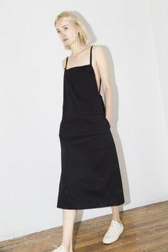 Black Strap Overall Dress