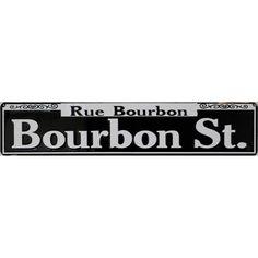 Bourbon Street Embossed Sign