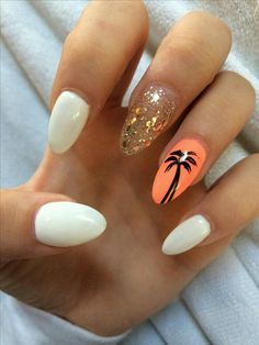 Are you looking for summer acrylic nails art designs that are excellent for this summer? See our collection full of summer acrylic nails art designs ideas and get inspired! Holiday Acrylic Nails, Summer Holiday Nails, Bright Summer Nails, Acrylic Summer Nails Beach, Acrylic Nail Designs For Summer, Summer Vacation Nails, Summer Stripes, Beach Nail Designs, Holiday Nail Designs