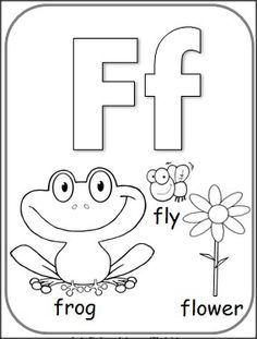 F Coloring Pages For Preschoolers 01 2 Color Cute Pinterest - Letter-f-coloring-page