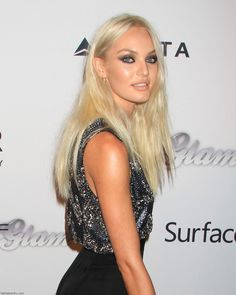 Candice Swanepoel with platinum blonde hair color... thinking about going blonde again!