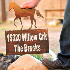 Address Sign, Address Numbers, House Sign, Ranch Sign, Farm Sign, Horse Sign, Horse. $40.00, via Etsy.