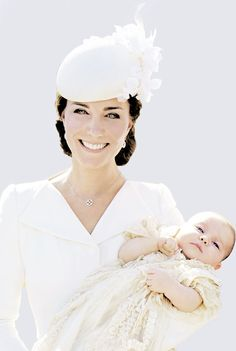 Kate and baby Charlotte