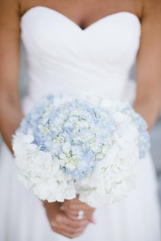 blue hydrangea bridal bouquet - Google Search