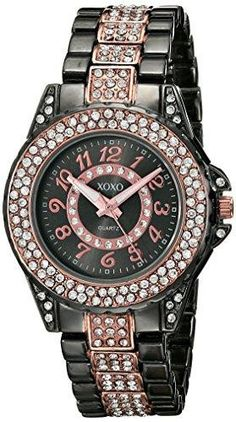 XOXO Women's XO5750 Analog Display Analog Quartz Two Tone Watch  Shopping online Watches products. Looking for Watches products online? Find top recommended XOXO Women's XO5750 Analog Display Analog Quartz Two Tone Watch online on Ergode.com   Features : Japanese quartz movement with analog display *Rhinestones embellished links on each side of band, jewelry clasp closure, second hand *Analog-quartz Movement *Case Diameter: 31mm *Not Water Resistant  Product dimensions : 3x4.3x3.2 inches