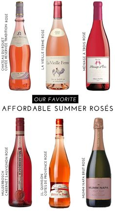 Tasty & Affordable Summer Rosés | theglitterguide.com