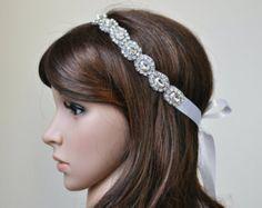 Diadema de novia tocados de novia diadema de por BrassLotus en Etsy