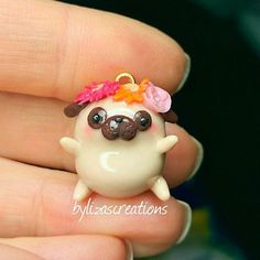 Fat pug (custom order for lovely Grace @bygracefulcreations ) #polymerclay #fimoclay #fimo #polymerclaycreations #etsy #etsyshop #bylizascreations